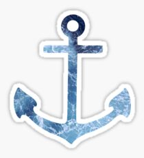 Crashing Waves Anchor Sticker