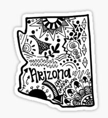 Arizona Zentangle Sticker
