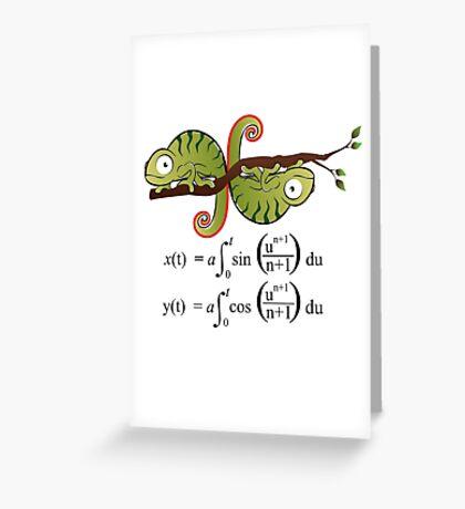 Euler Spiral Greeting Card