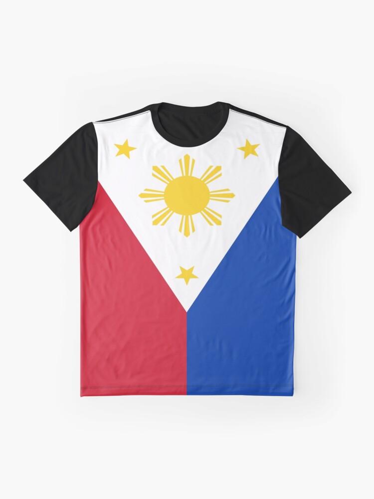 Alternative Ansicht von Philippinen Flagge Grafik T-Shirt