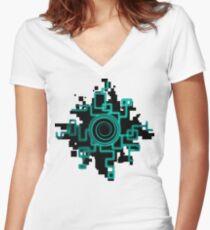 Zelda Green Twilight Portal Women's Fitted V-Neck T-Shirt