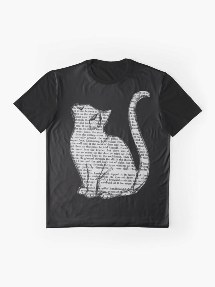 Alternative Ansicht von Bücher und Katzen und Bücher und Katzen Grafik T-Shirt
