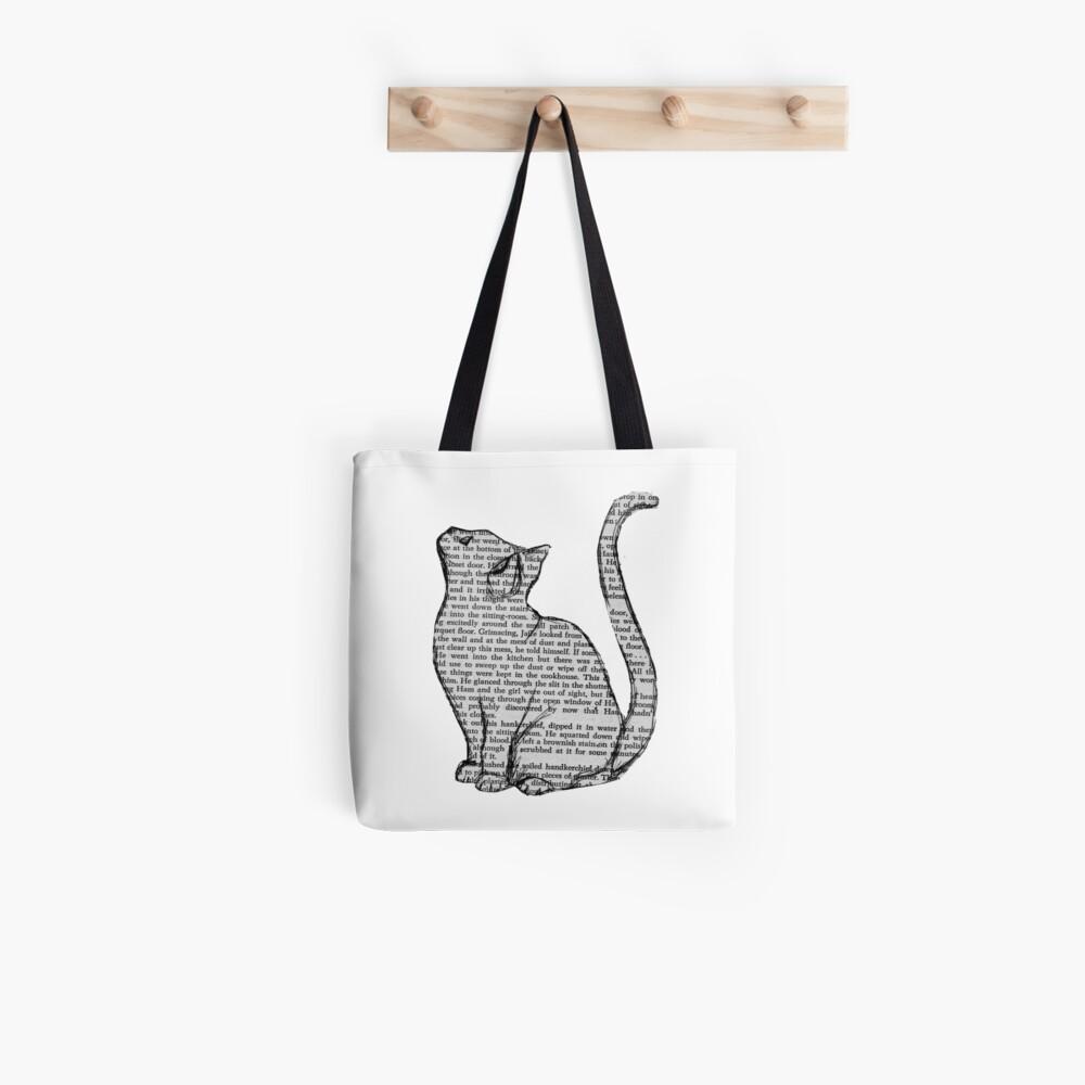 Bücher und Katzen und Bücher und Katzen Stofftasche