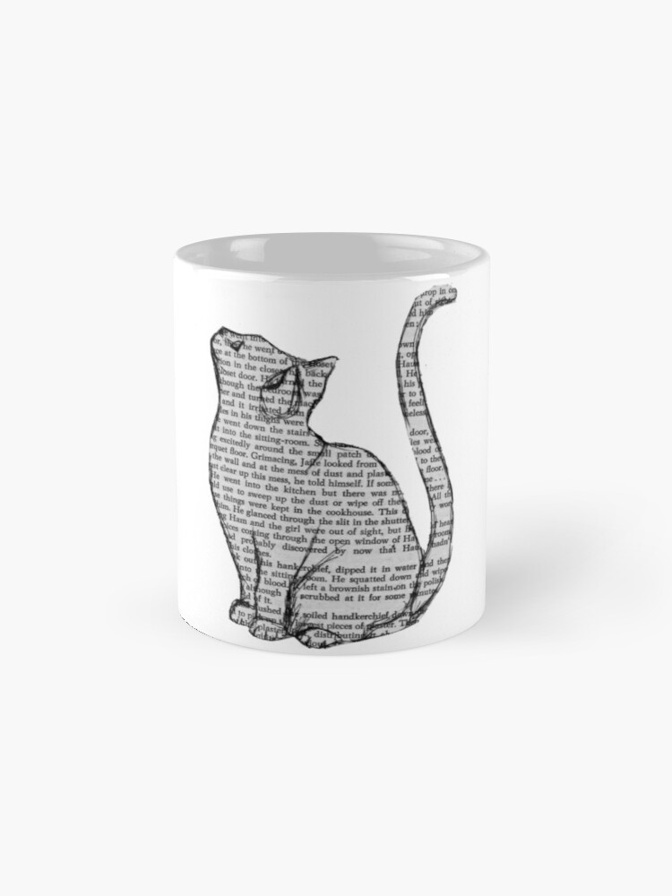 Alternate view of books and cats and books and cats Mug