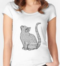 books and cats and books and cats Fitted Scoop T-Shirt