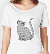 books and cats and books and cats Women's Relaxed Fit T-Shirt
