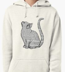 books and cats and books and cats Pullover Hoodie