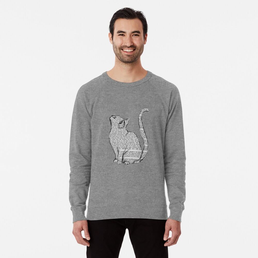 Bücher und Katzen und Bücher und Katzen Leichter Pullover