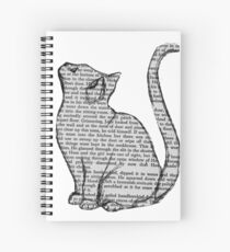 books and cats and books and cats Spiral Notebook