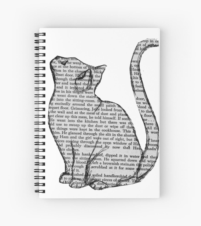 «libros y gatos y libros y gatos» de Audrey Metcalf