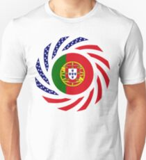 Portuguese American Multinational Patriot Flag Series Unisex T-Shirt