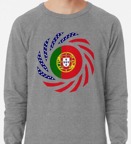 Portuguese American Multinational Patriot Flag Series Lightweight Sweatshirt