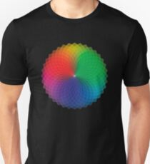 Geometric Design - Color Spectrum Multiply Unisex T-Shirt