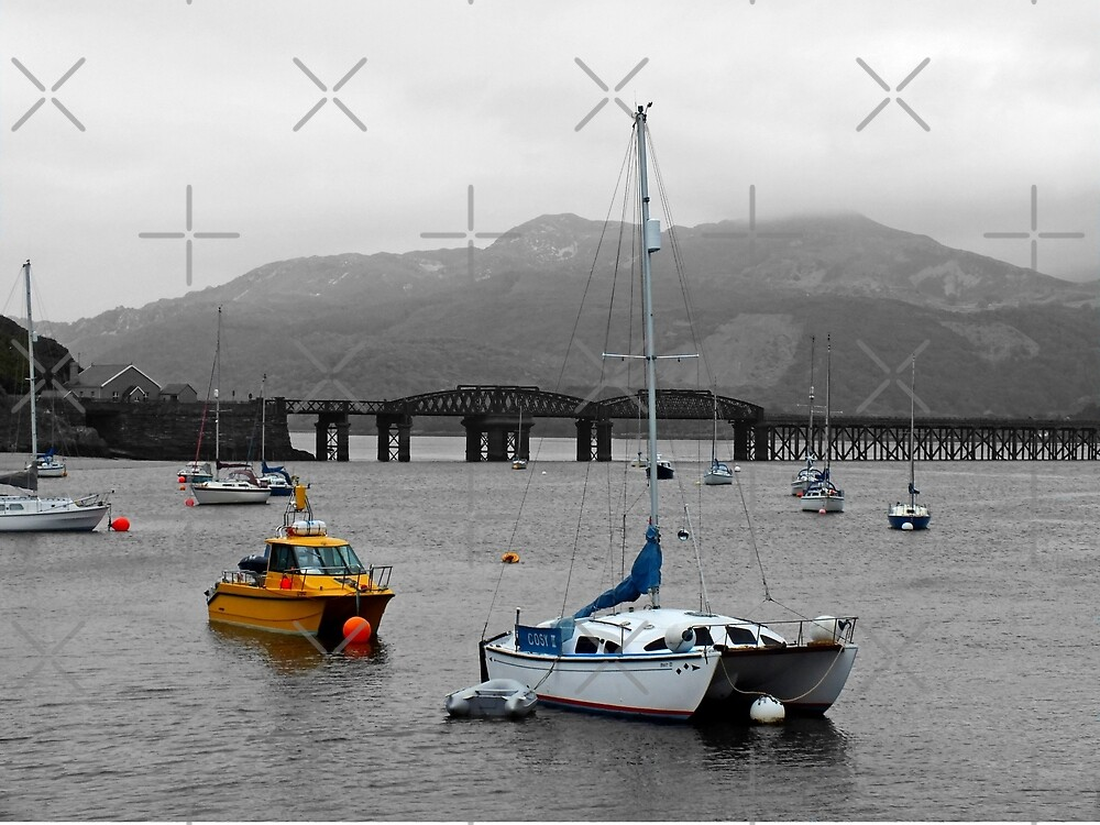 Barmouth Bridge and Boats by Yampimon