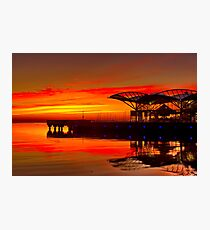 """Sunrise At The Carousel"" Photographic Print"