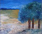 Blue trees by Elizabeth Kendall