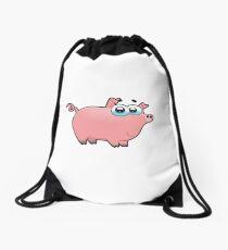 pig, animal farm Drawstring Bag