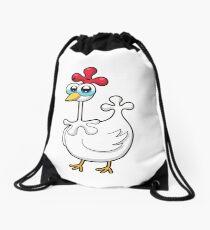 chicken, animal farm Drawstring Bag
