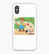 farmer and dog, animal farm iPhone Case