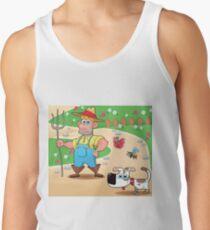 farmer and dog, animal farm Men's Tank Top