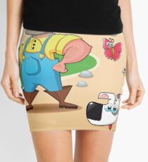 farmer and dog, animal farm Mini Skirt
