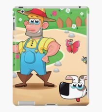 farmer and dog, animal farm iPad Case/Skin