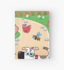 farmer and dog, animal farm Hardcover Journal