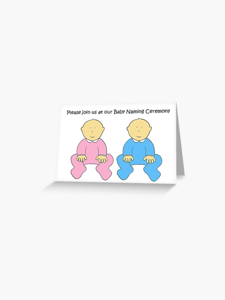 Baby Naming Ceremony Invitation for twins  | Greeting Card