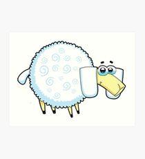 sheep, animal farm Art Print