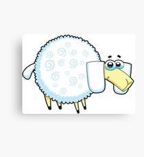 sheep, animal farm Canvas Print