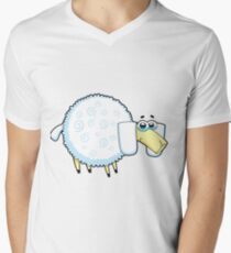sheep, animal farm Men's V-Neck T-Shirt