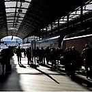 Shadows at Lucerne Station by Daidalos