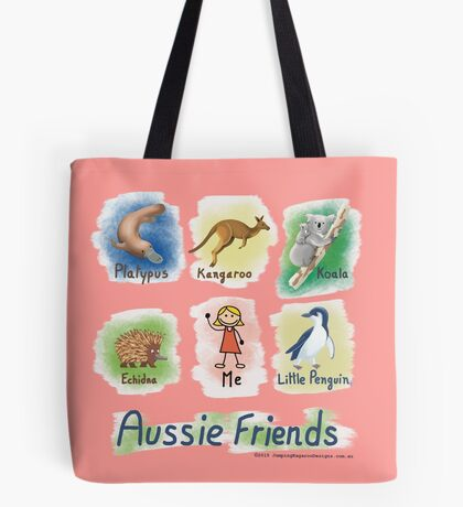 Me and My Aussie Friends - Girl Tote Bag