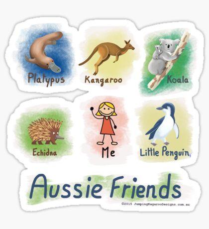 Me and My Aussie Friends - Girl Sticker