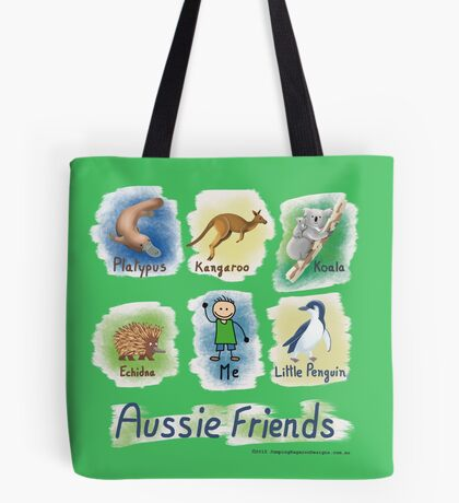 Me and My Aussie Friends - Boy Tote Bag