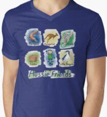Me and My Aussie Friends - Boy Men's V-Neck T-Shirt