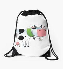 cow animal farm for kid Drawstring Bag