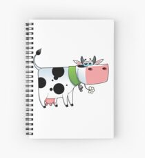 cow animal farm for kid Spiral Notebook