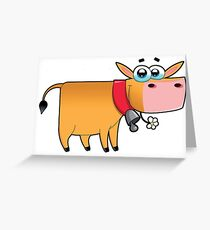 cow animal farm for kid Greeting Card