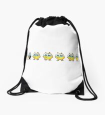 chicks animal farm Drawstring Bag