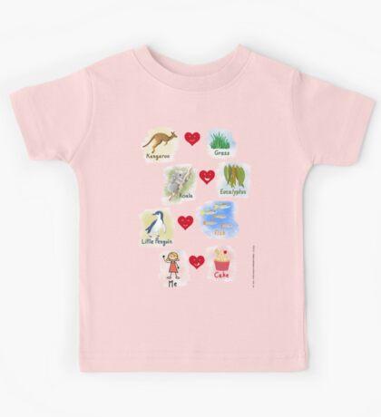 Aussie Friends love food - Girl Kids Clothes