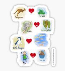 Aussie Friends love food - Boy Sticker