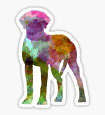 Rhodesian Ridgeback in watercolor Sticker