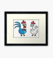 chicken animal farm and kid Framed Print
