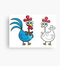 chicken animal farm and kid Metal Print