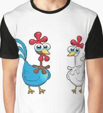 chicken animal farm and kid Graphic T-Shirt