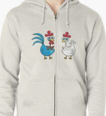 chicken animal farm and kid Zipped Hoodie
