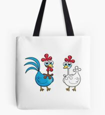 chicken animal farm and kid Tote Bag