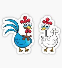 chicken animal farm and kid Sticker