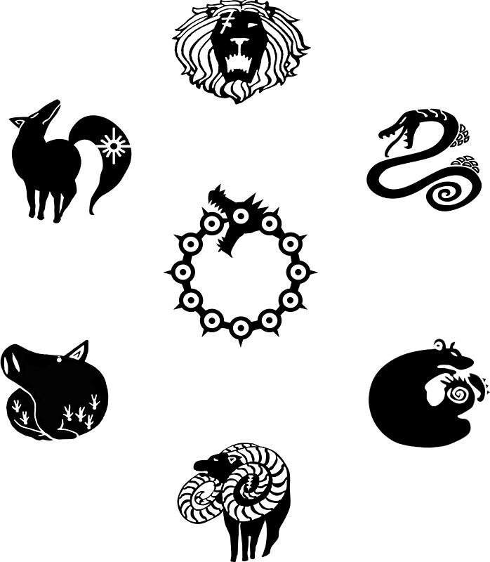 u0026quot nanatsu no taizai u0026quot  stickers by mulaan